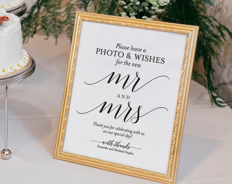 Photo Guest Book Sign Wedding Guest Book Sign Guest Book image 0