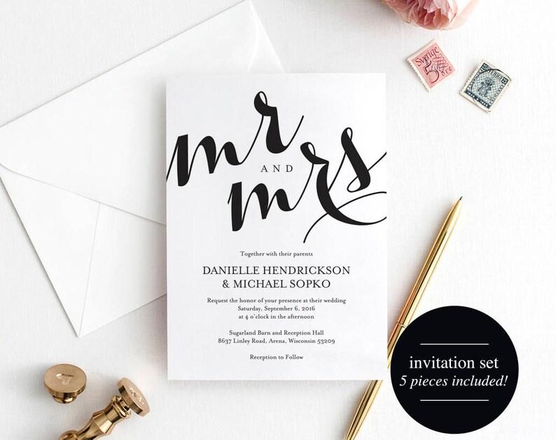 Wedding Invitation Printable Template Wedding Invitation image 0
