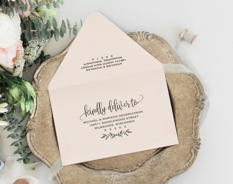Envelope Printable Envelope Template Wedding Envelope image 0
