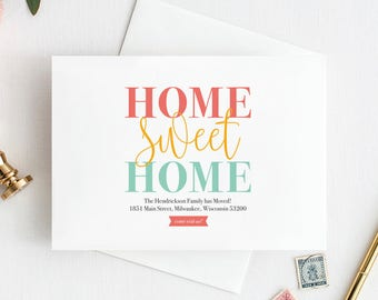 We've Moved, New Home Announcement, New Address, Moving Announcement Printable, Postcard Template, Editable, PDF Instant Download #BPB200_1