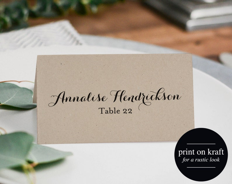 Wedding Place Card Printable Template Place Cards Template image 0