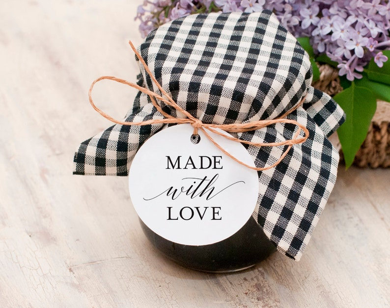 Made with Love Tags Made with Love Printable Wedding Favor image 0