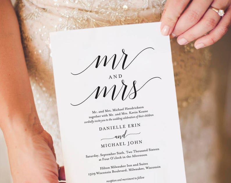 Wedding Invitation Template Wedding Invitation Printable image 0
