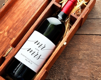 Wedding Wine Label, Mr and Mrs Wine Label, Wine Label Printable, Wedding Printable, Wedding Template, PDF Instant Download #BPB310_28B