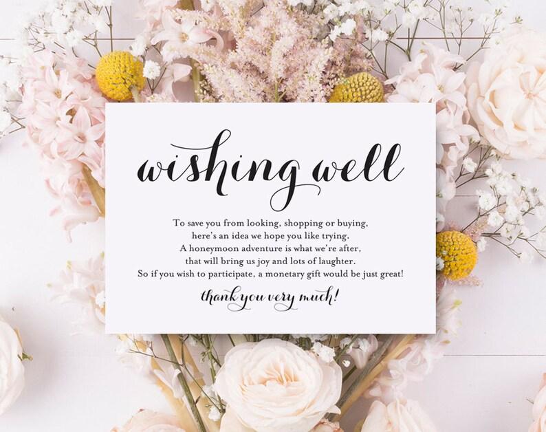 Wishing Well Card Wedding Wishing Well Wishing Well image 0