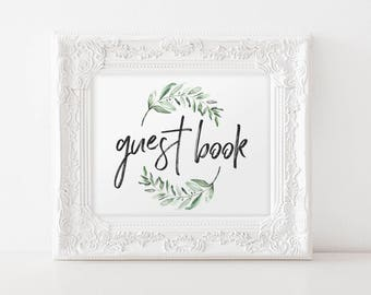 Guest Book Wedding, Guest Book Sign, Guest Book Ideas, Guest Book Sign Template, Bliss Paper Boutique, PDF Instant Download #BPB330_41