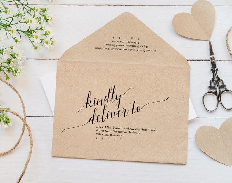 Calligraphy Envelope Printable Envelope Template Wedding image 0