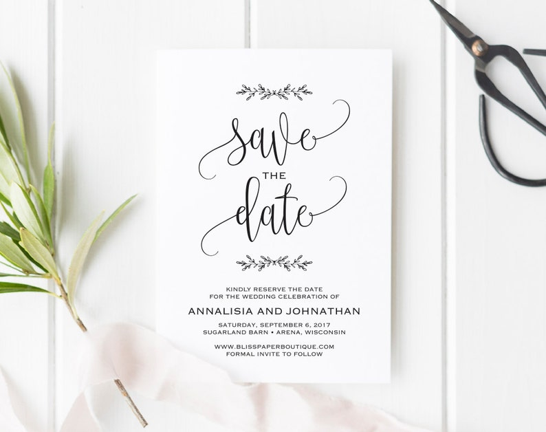 Save the Date Printable Save the Date Template Rustic Save image 0