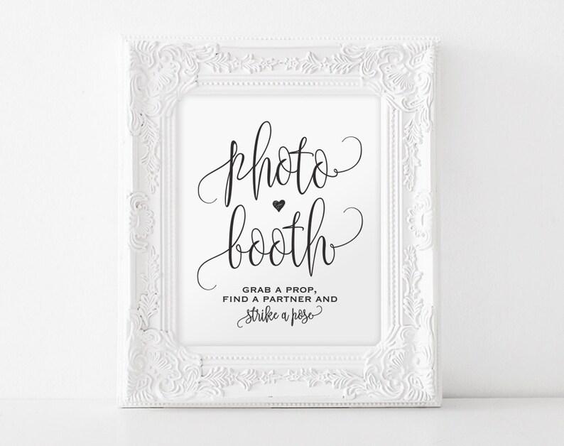 Photo Booth Sign Printable Photo Booth Sign Wedding image 0