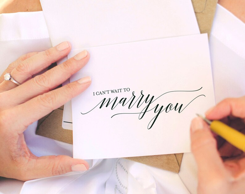 Wedding Day Card I Can't Wait To Marry You Card To my image 1