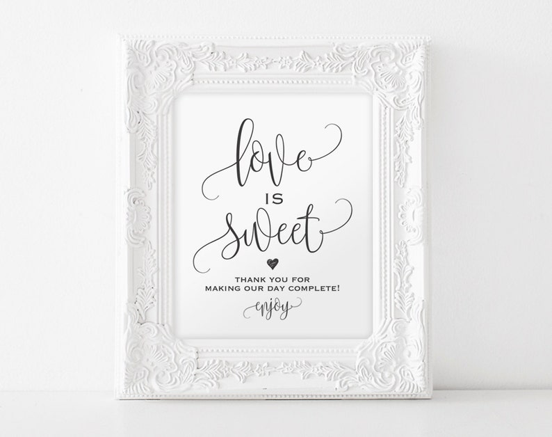Love is Sweet Sign Dessert Table Sign Take a Treat Sign image 0