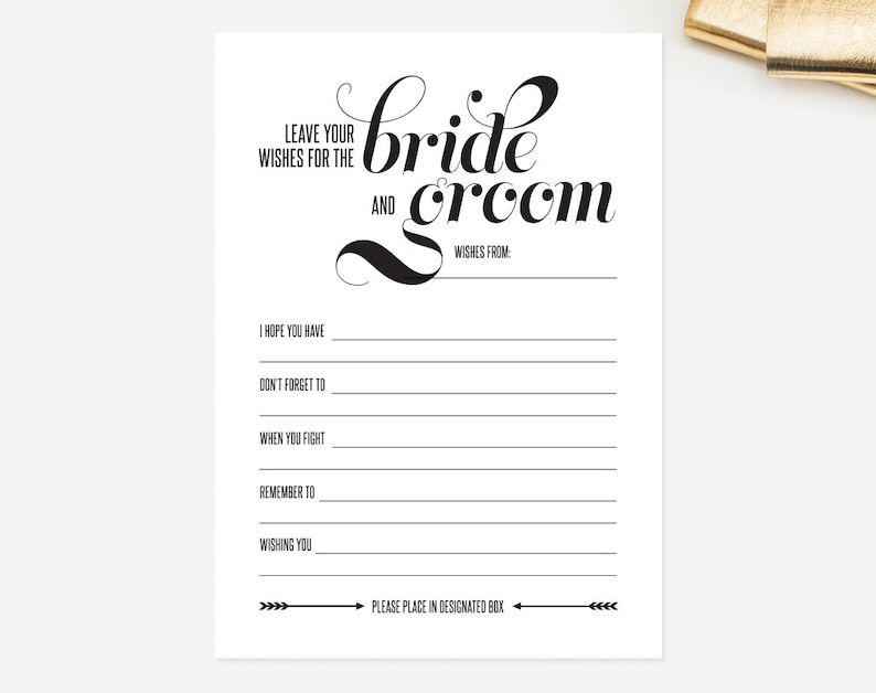photograph regarding Free Printable Wedding Mad Libs Template referred to as Marriage Crazy Libs Card Depart Your Would like for the Bride and Groom Suggestions Printable Template - Romantic relationship Tips Keepsake #BPB48
