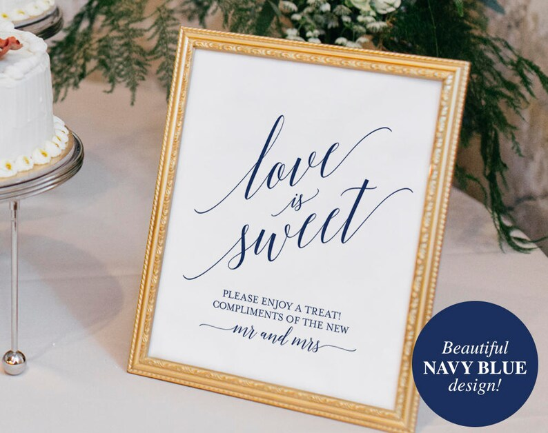 Love is Sweet Printable Love is Sweet Sign Dessert Table image 0