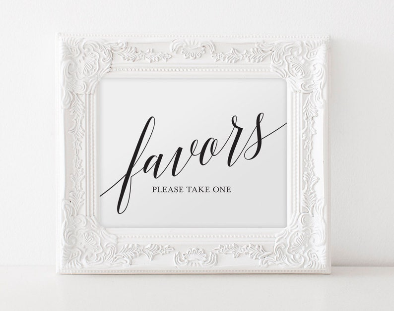 Wedding Favor Sign Wedding Favors Sign Wedding Favors for image 0