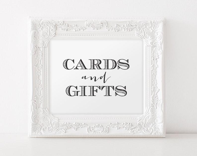Wedding Sign Cards and Gifts Printable Wedding Sign Wedding image 0