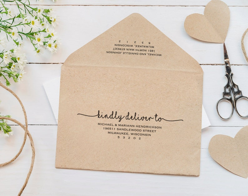 Wedding Envelope Template Envelope Calligraphy Wedding image 0