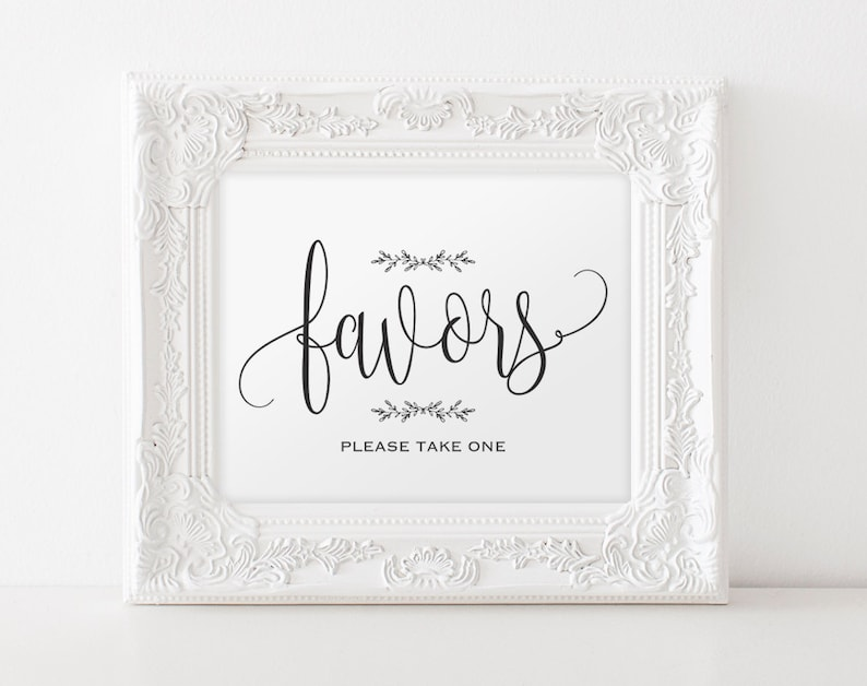 Favors Sign Wedding Favors Favor Sign Printable Wedding image 0