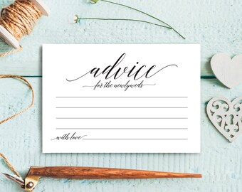 Wedding Advice Cards, Advice Cards, Marriage Advice, Advice Printable, Guest Book Alternative, PDF Instant Download #BPB310_15
