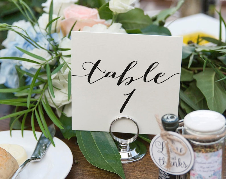 Wedding Table Numbers Table Numbers Printable Rustic Table image 0