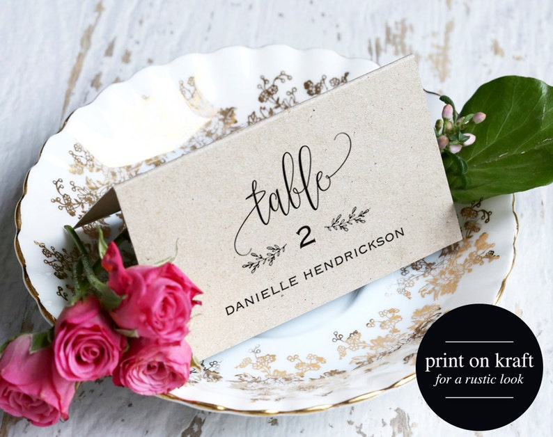 Place Cards Wedding Place cards Editable Place Cards image 0