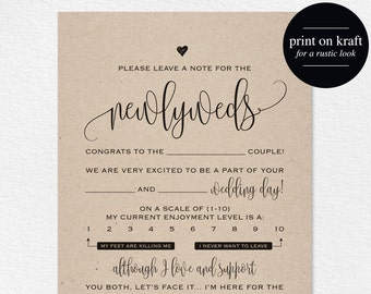 Wedding Mad Libs, Mad Lib Printable, Wedding Advice, Mad Lib, Guest Book Mad Libs, Mad Lib Advice, Wedding Game, Instant Download #BPB203_20