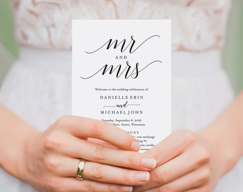 Wedding Program Template Wedding Program Printable Ceremony image 0