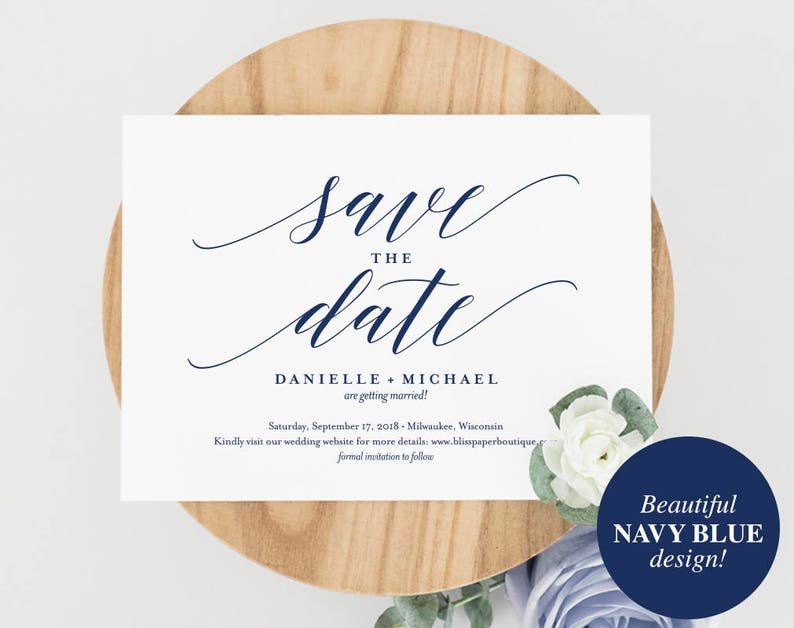 Navy Save the Date Template Save the Date Cards Save the image 0