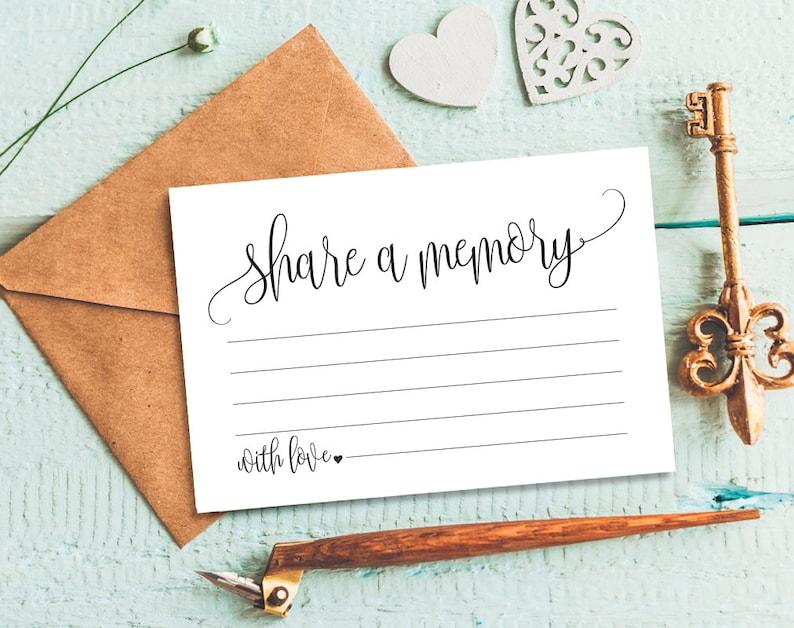 Share a Memory Card Memory Cards Share a Memory Printable image 0