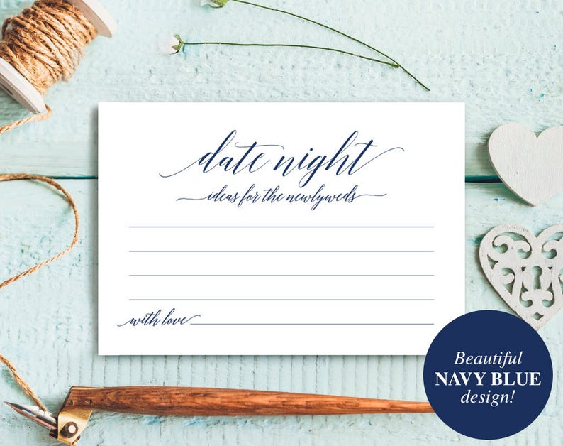 Navy Date Night Cards Date Night Ideas Date night idea image 0