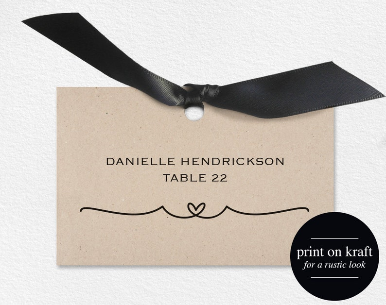 Wedding Place Cards Place Card Printable Wedding Place Cards image 0