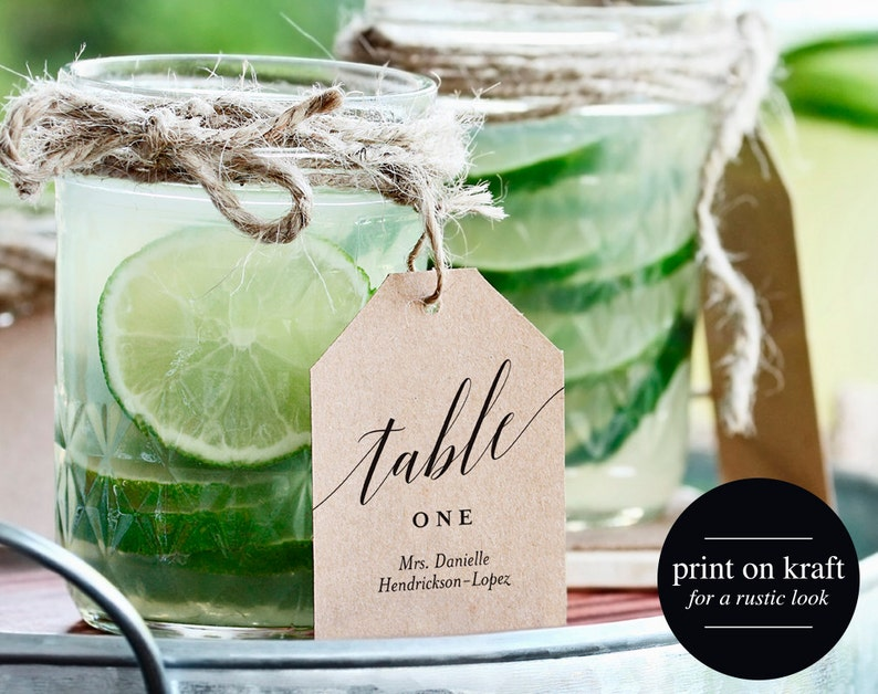 Mason Jar Place Cards Place Card Tags Wedding Place Cards image 0