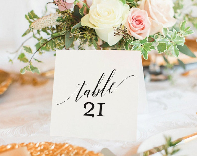 Table Numbers Printable Wedding Table Numbers Table Number image 0