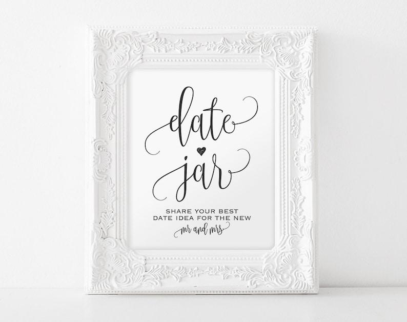 Date Jar Sign Date Night Sign Date Jar Ideas Date Ideas image 0