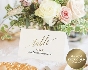 Wedding Place Cards, Wedding Place Card Printable, Place Card Template, Wedding Printable, Gold Wedding, PDF Instant Download #BPB324_6