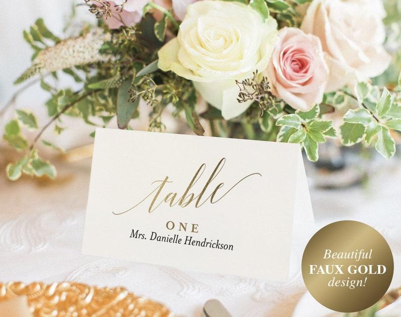 Wedding Place Cards Wedding Place Card Printable Place Card image 0