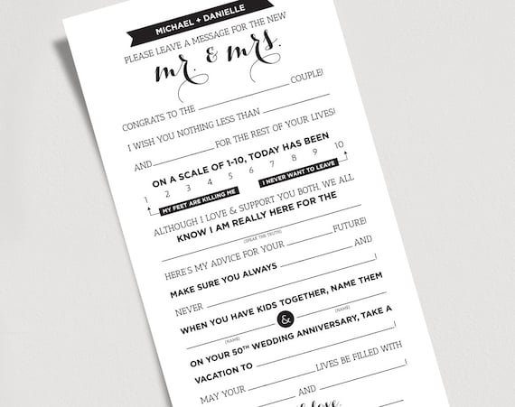 photo about Mad Libs Printable Pdf titled Wedding day Crazy Libs Printable Template Kraft Indicator - Mr and Mrs, Bride and Groom / Card / Video game - Connection Suggestions Keepsake #BPB103MW