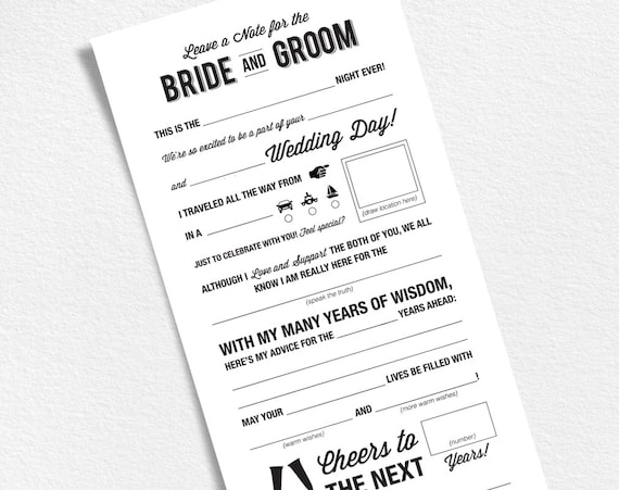 Wedding mad libs printable template wedding keepsake etsy image 0 maxwellsz