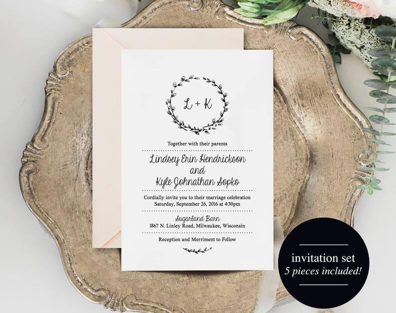 Wedding Invitation Set Wedding Invitation Suite Wedding image 1