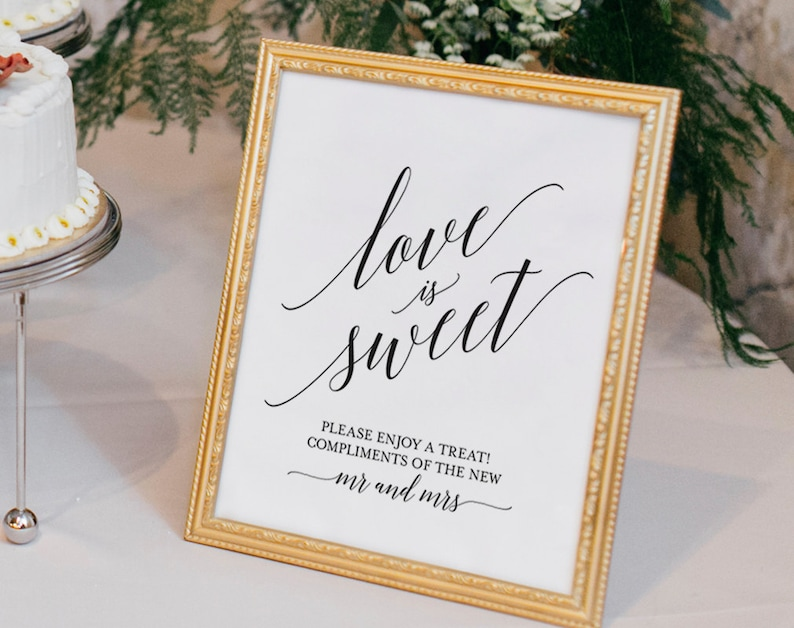 Love is Sweet Printable Love is Sweet Sign Dessert Table image 1