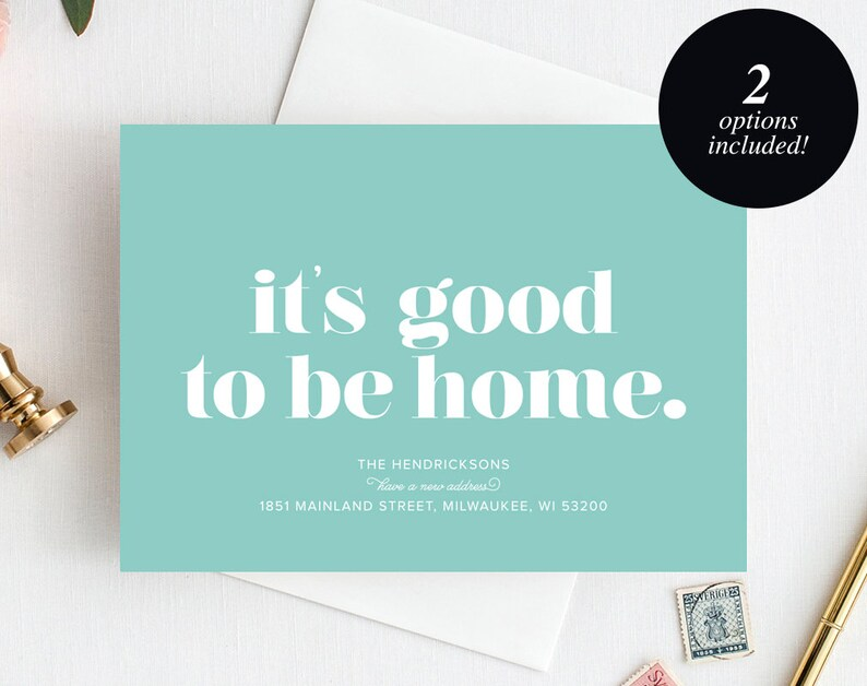 Moving Announcement Printable It's good to be home New image 1