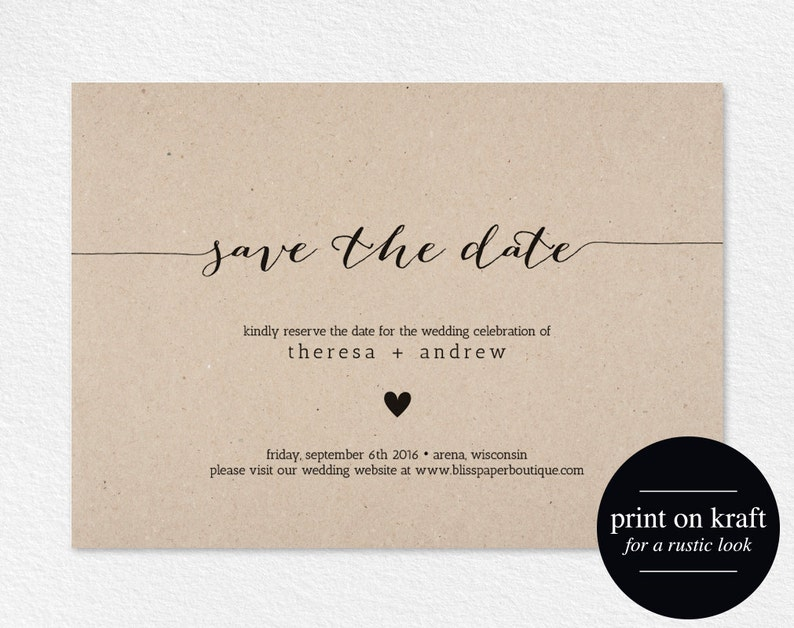 Save the Date Invitation Save the Date Printable Wedding image 0
