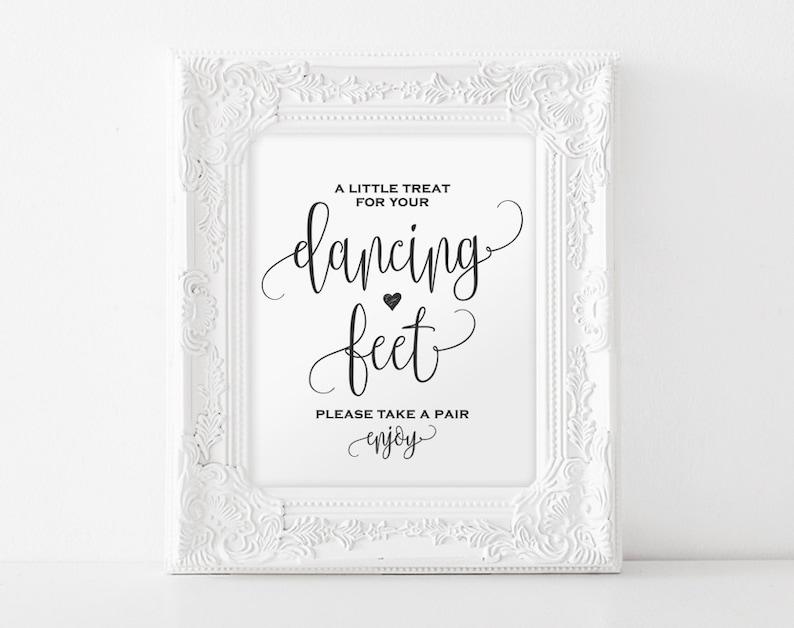 Dancing Shoes Sign Dancing Feet Sign Wedding Dancing Shoes image 0