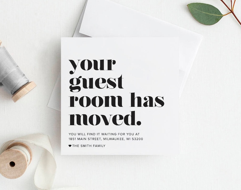 New Home Announcement Moving Announcement Your Guest Room image 0