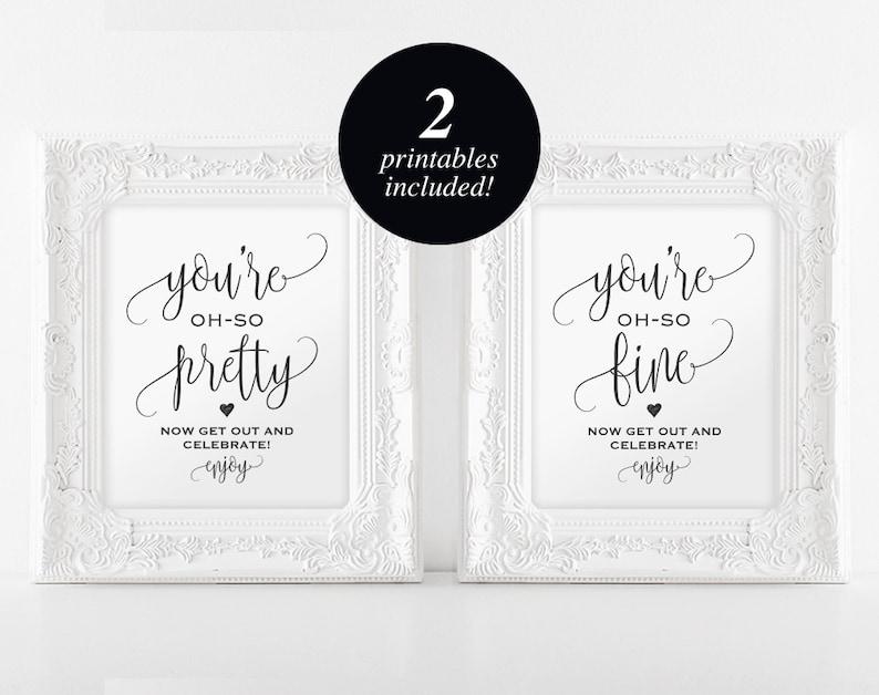 Wedding Bathroom Signs Wedding Sign Wedding Printable image 0