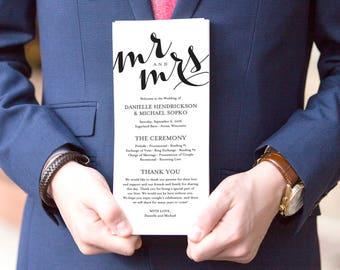 Wedding Program Printable Template, Printable Program, Wedding Printable, Kraft, DIY, Editable Program, PDF Instant Download #BPB133_3