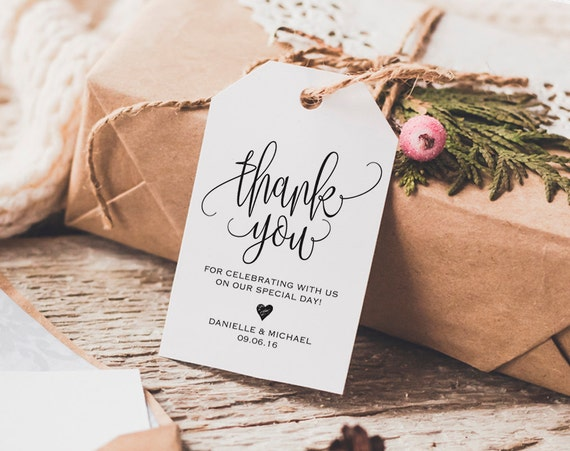 thank you tag wedding thank you tags gift tags wedding etsy