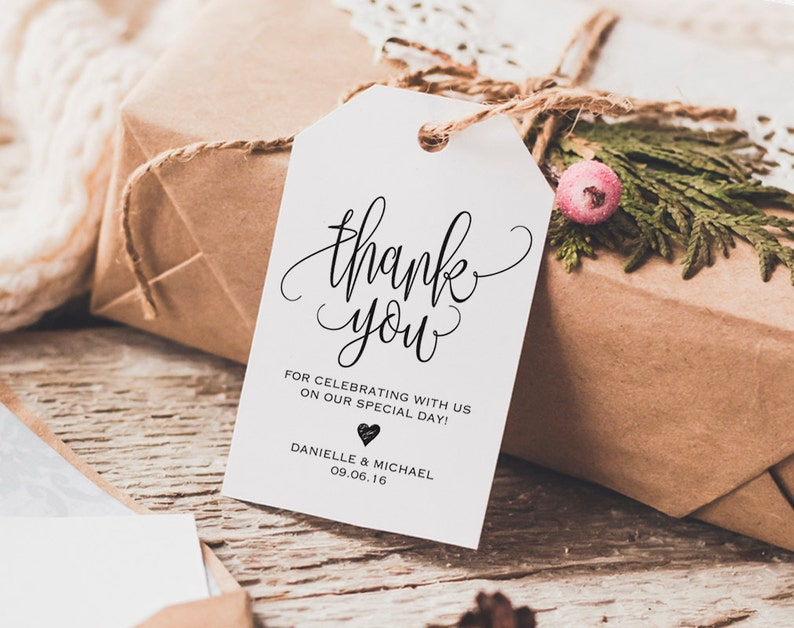 Thank You Tag Wedding Thank You Tags Gift Tags Wedding image 0
