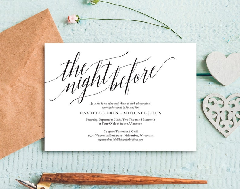 Rehearsal Dinner Invitation Rehearsal Dinner Invitation image 0