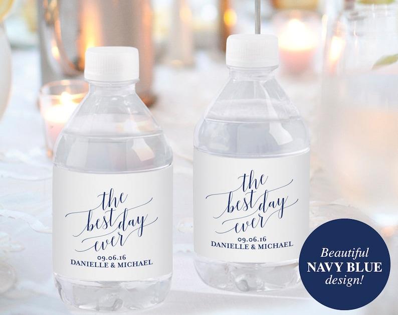 Wedding Water Bottle Label Water Bottle Label Printable image 0