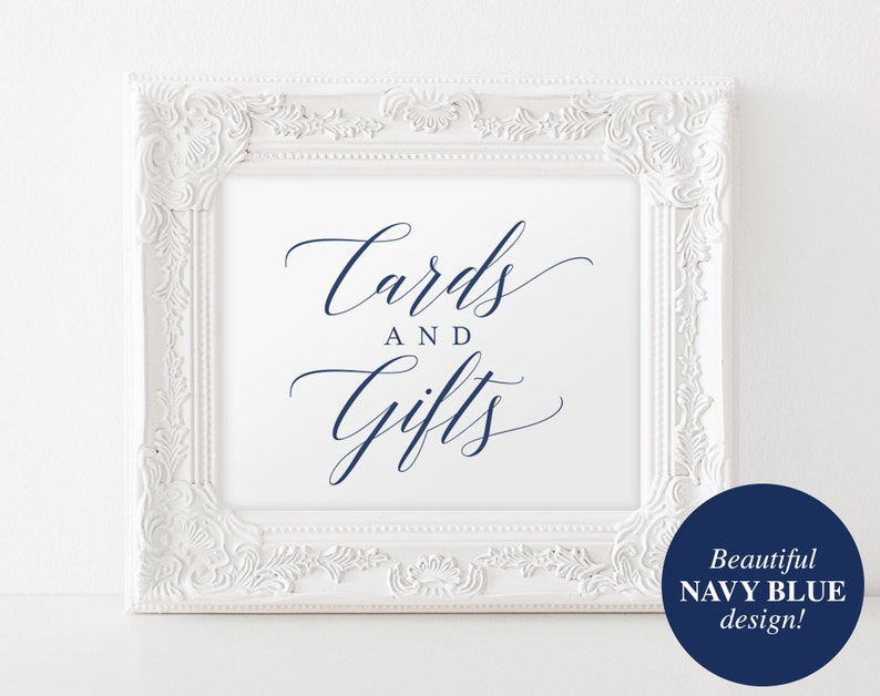 Cards and Gifts Sign Cards and Gifts Printable Wedding image 0